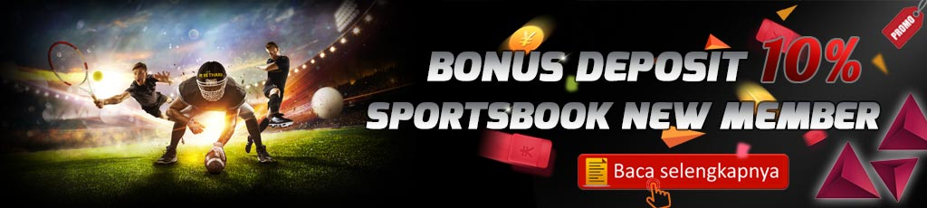 Bonus Deposit Sportsbook 10% New Member
